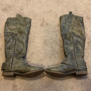Gray Riding Boots